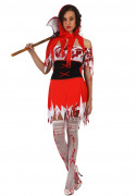 Bebloed roodkapje Halloween kostuum voor dames