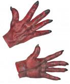 Rode duivelhandschoenen voor volwassenen