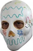 Wit Dia de los Muertos masker voor volwassenen