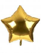 Grote goudkleurige ster ballon