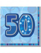 Set 16 papieren servetten 50 jaar