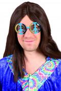 Love and Peace hippiebril voor volwassenen