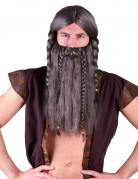 Vikingpruik met baard voor volwassenen