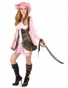 Roze piraten kostuum voor vrouwen