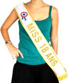 Gouden sjerp Miss 18 jaar