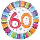 Ronde aluminium ballon 60 jaar