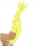 Lange fluogele handschoenen voor volwassenen