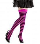 Zwart-roze gestreepte kousen voor volwassenen