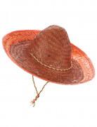 Oranje Mexicaanse sombrero voor volwassenen