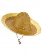 Gele Mexicaanse sombrero voor volwassenen