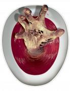 Zombiehand wc bril sticker
