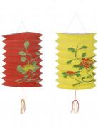 Rood en gele Chinese lantaarns