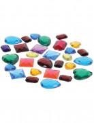 Zakje met gekleurde edelstenen