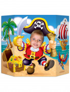 Gezicht foto poster piraat
