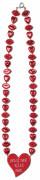 Rode haartjes ketting Valentijnsdag