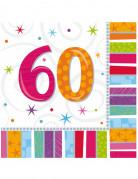 16 papieren servetten 60 jaar
