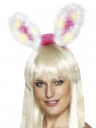 Roze lichtgevende konijnen oortjes