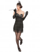 Zwarte Charleston kostuum voor dames