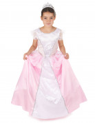 Roze en witte prinsessen kostuum voor meiden