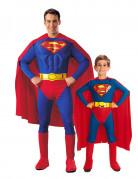 Superman kostuums voor vader en zoon Helmond