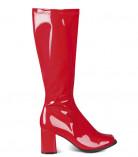 Rode lakleren laarzen voor dames
