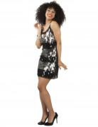 Zwart en zilver disco kostuum voor vrouwen