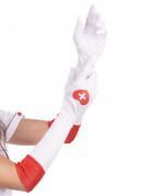 Witte verpleegster hanschoenen