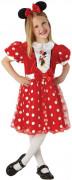 Rood Minnie™ kostuum met stippen voor meisjes
