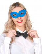 Blauwe half masker voor volwassenen