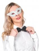 Kartonnen zilver-wit oogmasker voor volwassenen