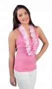 Witte-roze hawaii ketting