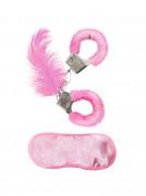 Roze bont set voor volwassenen