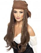 Lange donkerblonde piratenpruik voor vrouwen