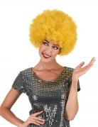 Gele disco pruik voor volwassenen Comfort