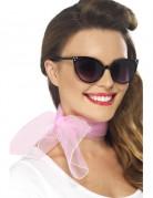 Roze retro sjaaltje voor vrouwen