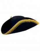 Piraten hoed met goudkleurige rand voor volwassenen