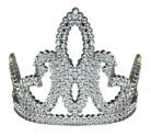 Zilverkleurig prinsessen diadeem voor meisjes
