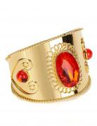 Goudkleurige armband met rode stenen