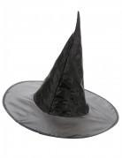 Zwarte satijnachtige heksenhoed