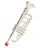 Zilverkleurig plastic trompet