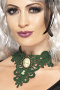 Groen halsketting voor dames