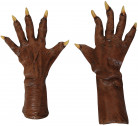 Bruine weerwolf handschoenen voor volwassenen
