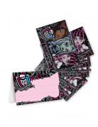 4 Monster High™ uitnodigingen en enveloppen