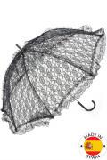 Zwarte kanten parasol
