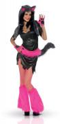 Sexy fluo wolf kostuum voor dames