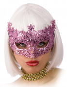 Glimmend roze Venetiaans masker