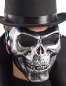 Zilverkleurig skelet halfmasker voor volwassenen