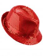 Rode lovertjes hoed voor volwassenen