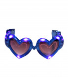 Blauwe hartjes bril met lichtjes volwassenen
