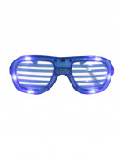 Blauwe bril met lichtjes